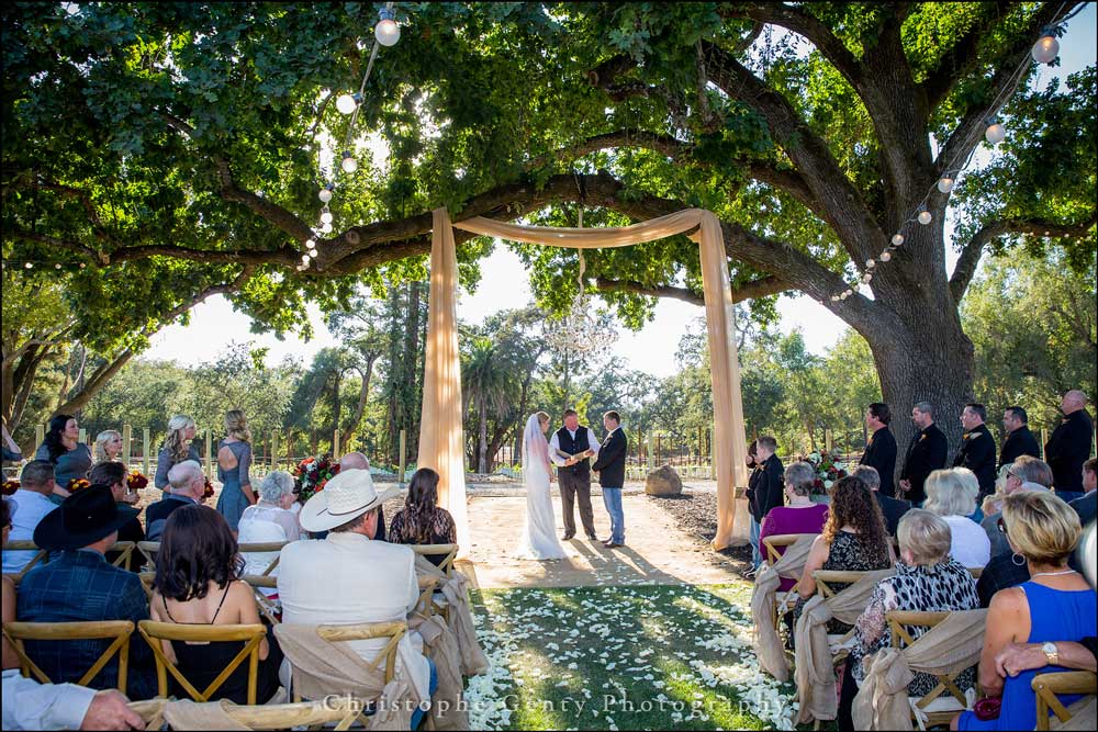 The chadelier and 100' draping made a stunning focal point for this epic chic country wedding by Intimate Weddings Napa Valley