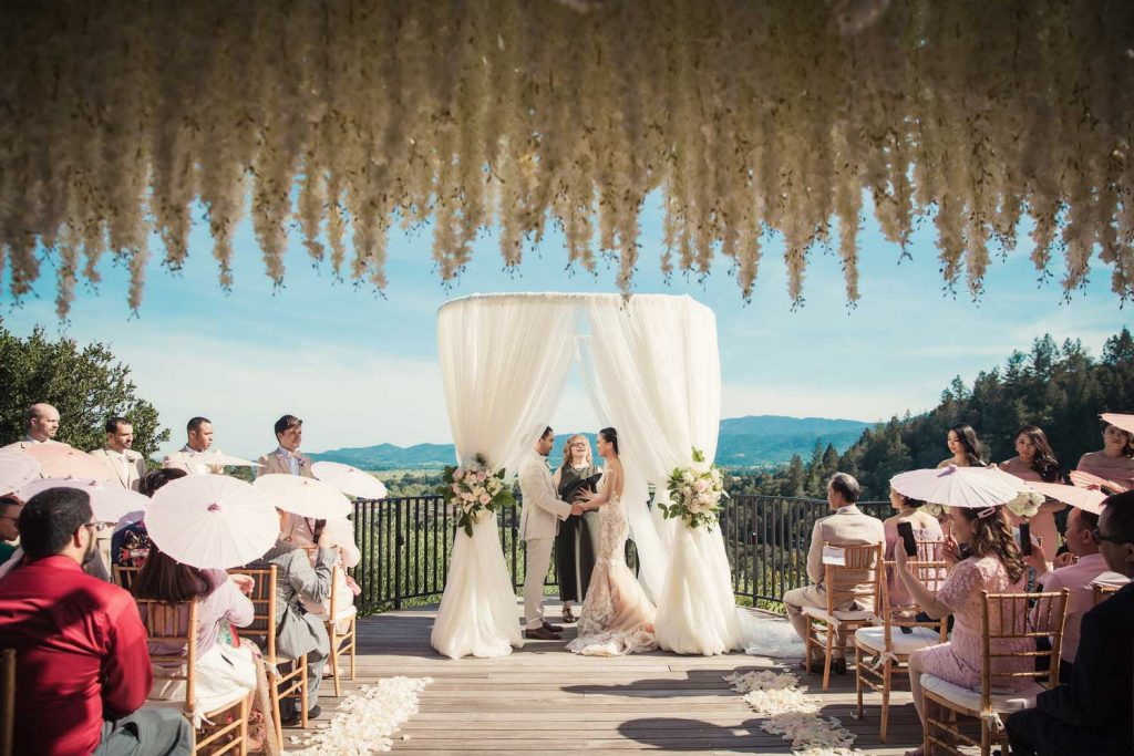 Destination Wedding at Auberge du Soleil resort by Intimate Weddings Napa Valley